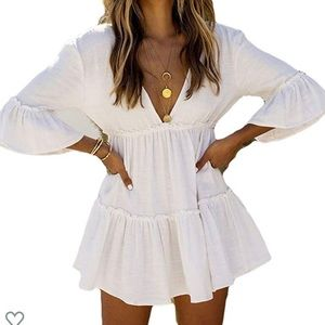 Casual Swimsuit Cover Up Short Beach Dress